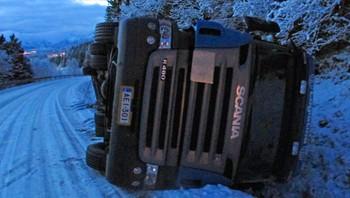 Vogntoget veltet på Frøskelandsfjellet