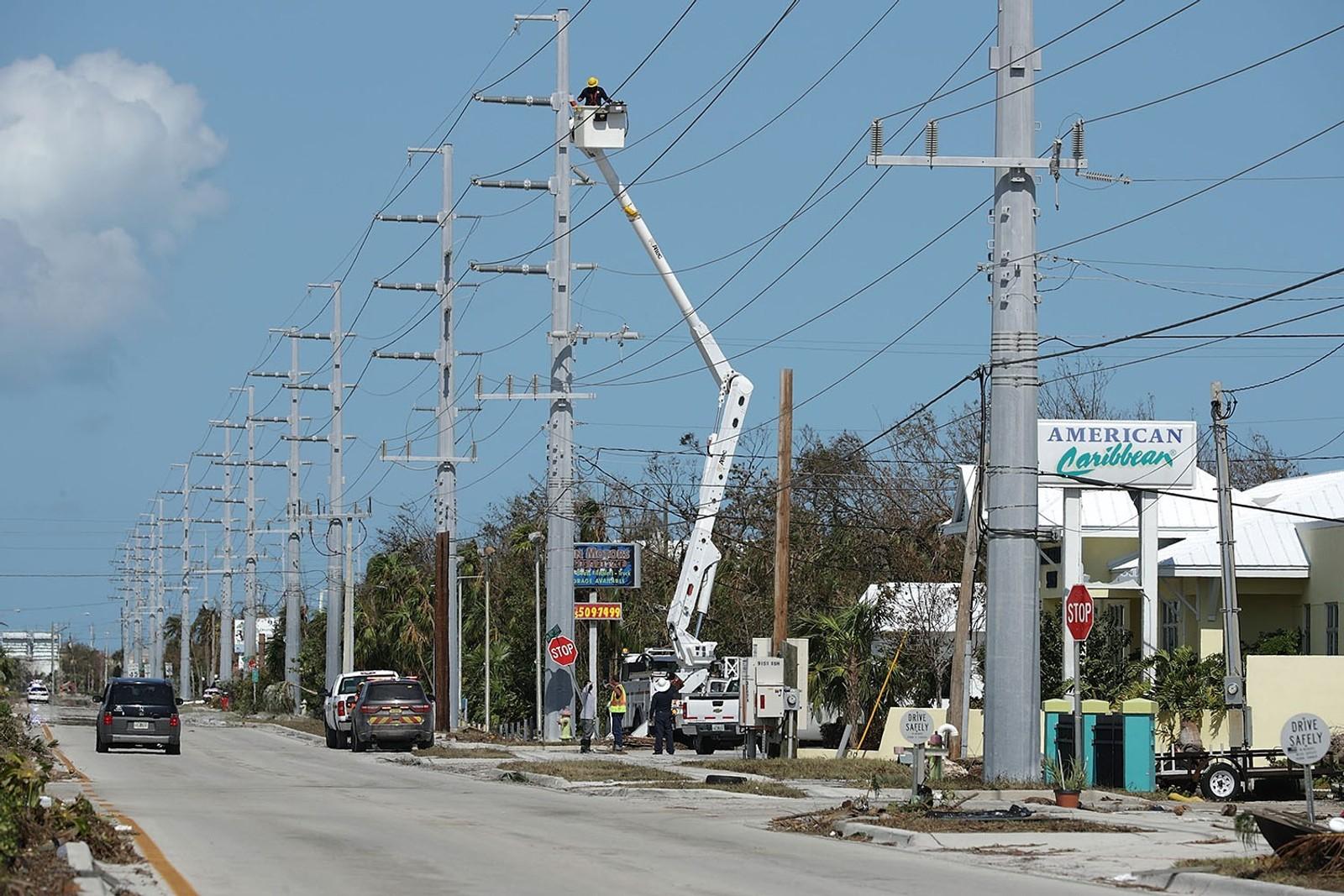 Federal Emergency Managment Agency anslår at 25 prosent av alle boliger i Florida Keys er blitt ødelagt, og at 65 prosent har fått stor skade etter orkanen.