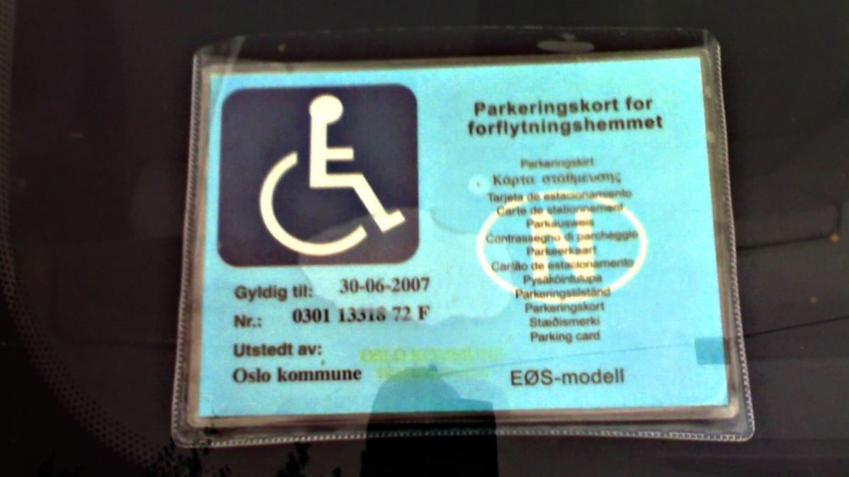 handicapkort regler