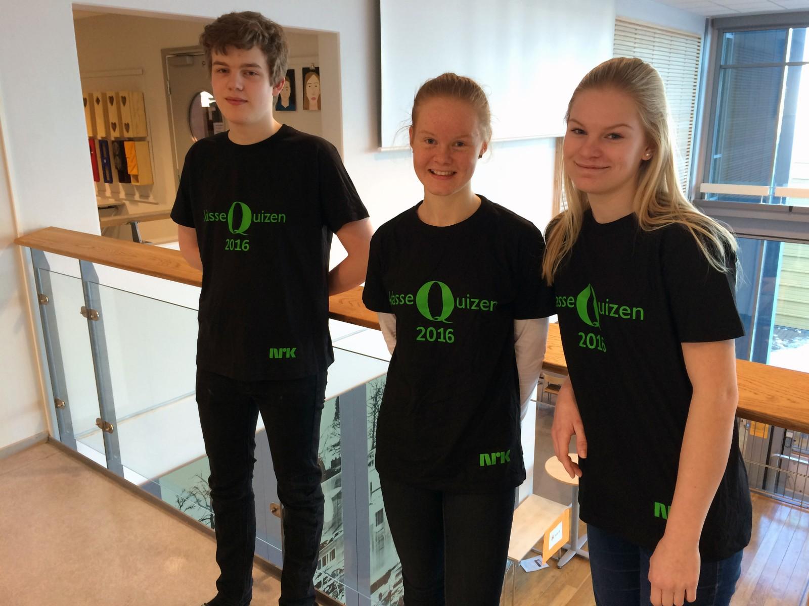 Even Svensson, Karen Elise Fridtjofsen og Ida Linde fra Charlottenlund skole fikk 8 poeng.