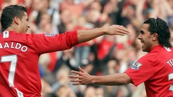 Cristiano Ronaldo og Carlos Tevez scoret i Uniteds storseier