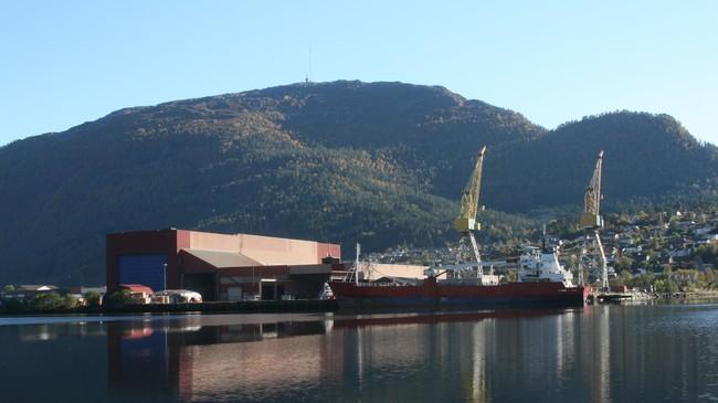 Distriktenes Utbyggingsfond var medspelar då industriområdet på Øyrane i Førde vart bygt opp. Foto: Kjell Arvid Stølen, NRK.
