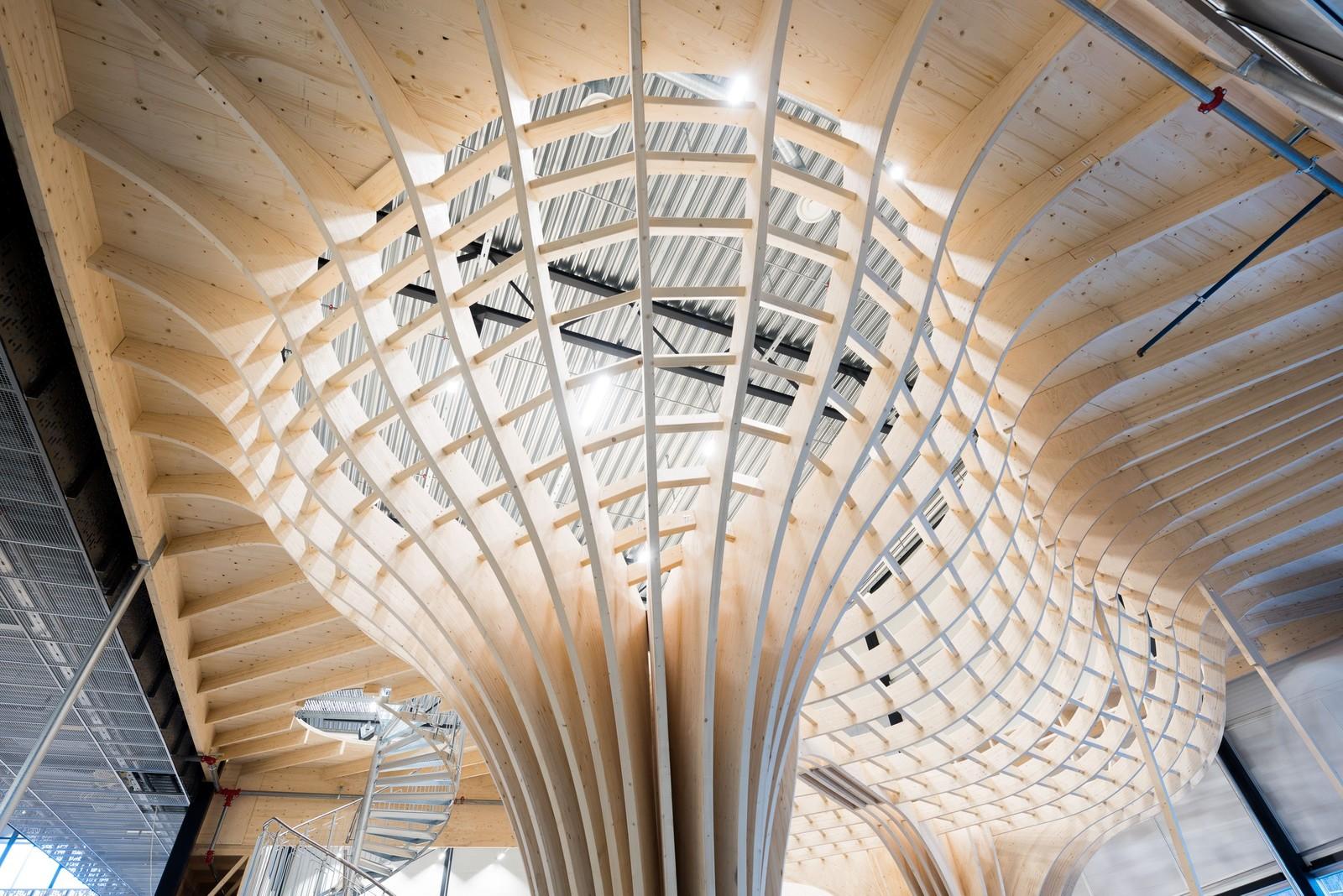 Som en av svært få i verden, rager bowlen opp til 2. etasjes nivå. Konstruksjonen er 5,2 meter høy.
