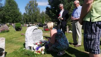 Minnemarkering ved Monica Bøseis grav