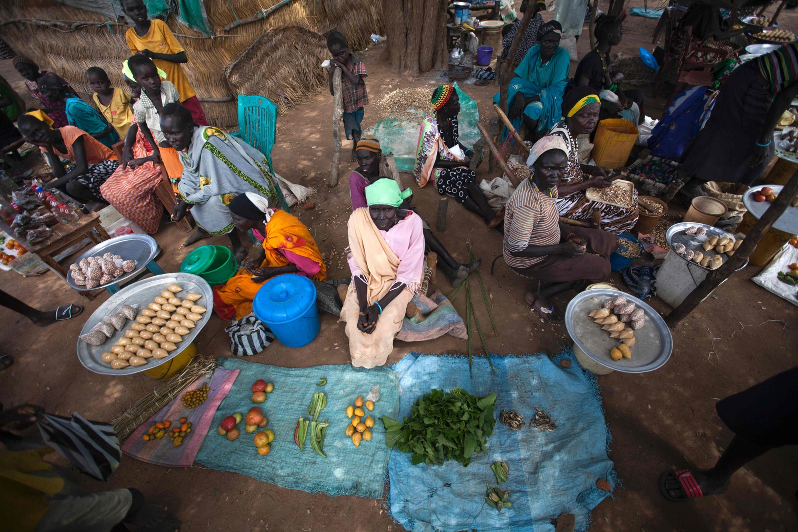 Matkrisen i Sør-Sudan: på markedet i Akuem, like utenfor Awil har de ikke mye å selge. På grunn av tørken er mer en 50% av avlingen ødelagt.