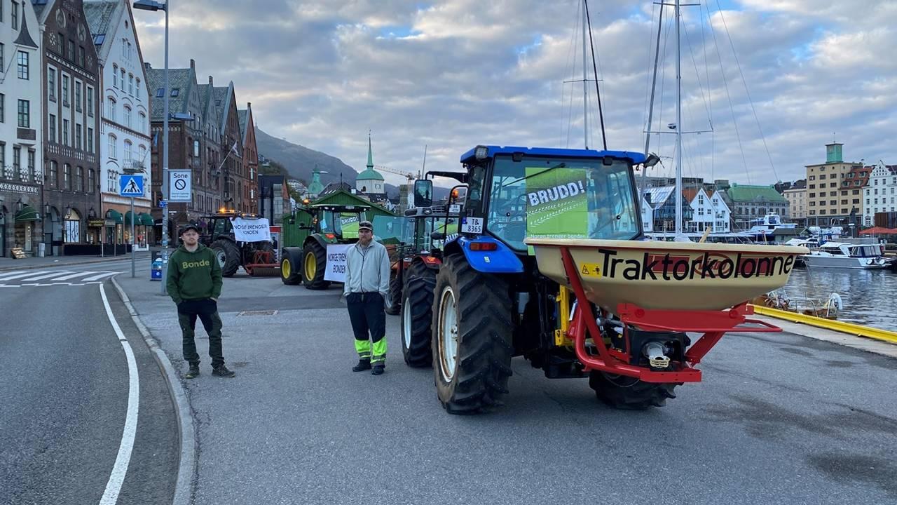 Bønder aksjonerer i Bergen