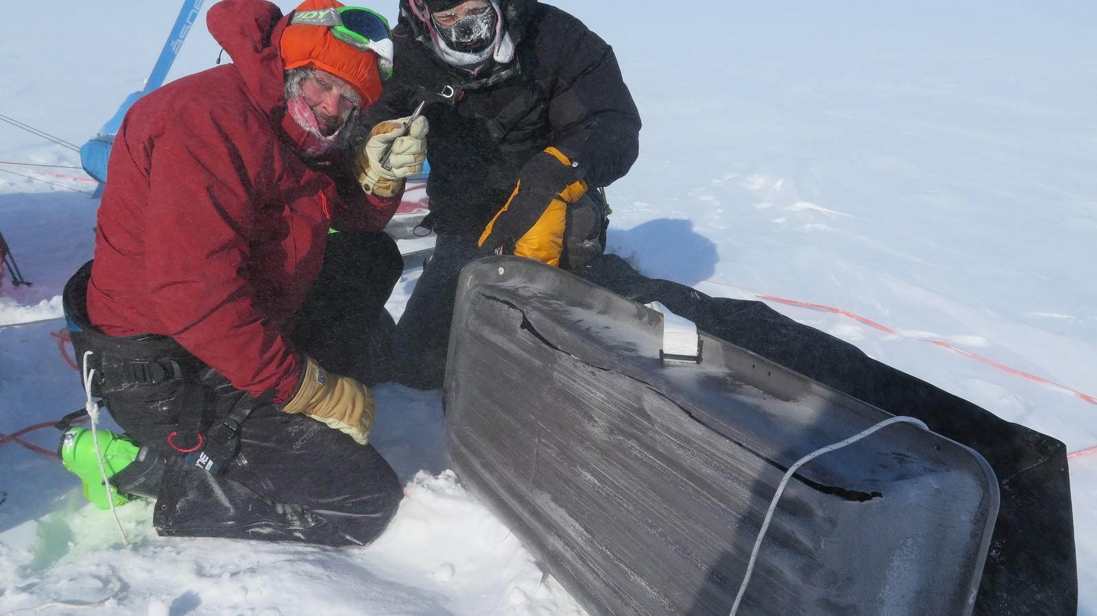 Utstyret og reparasjonsevnene ble satt på prøve i det tøffe klimaet.