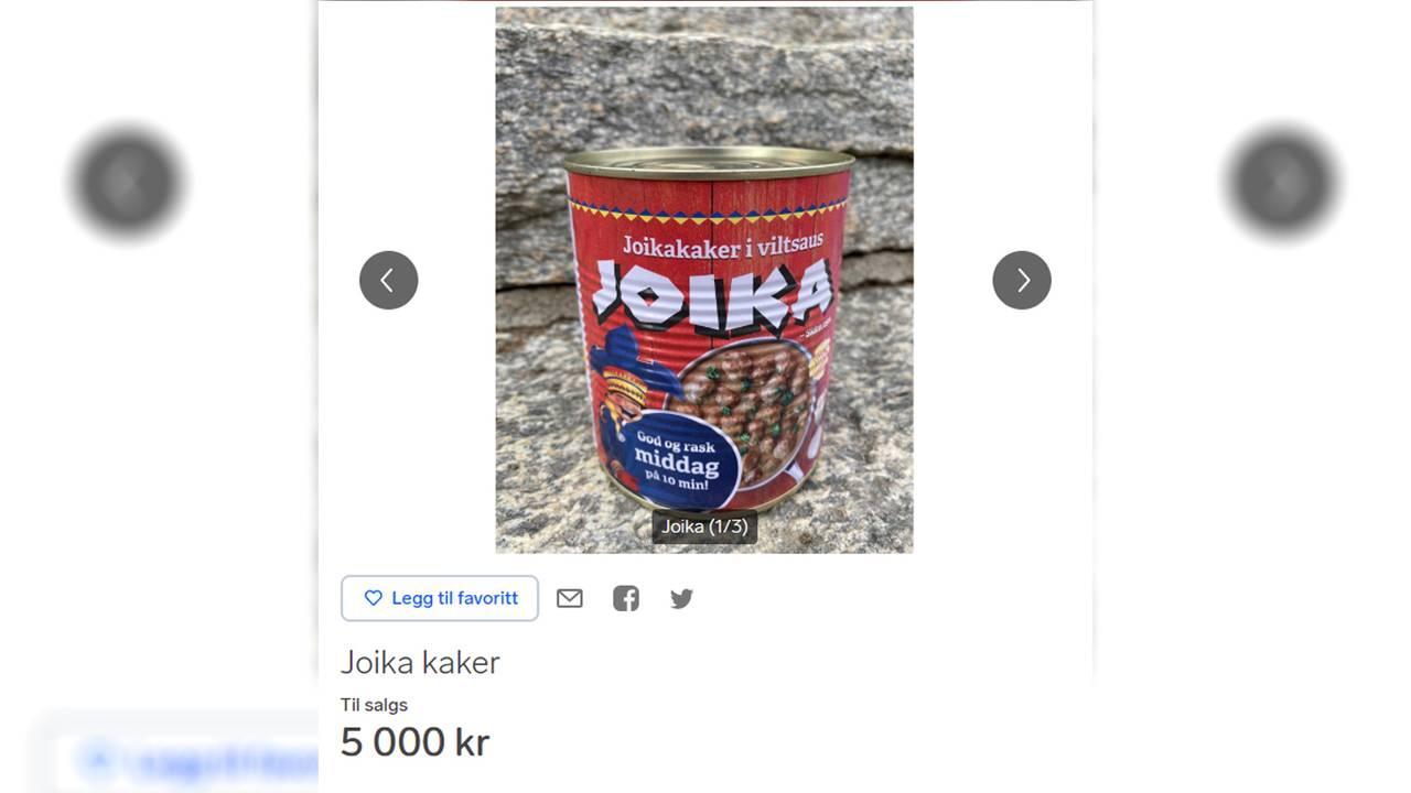 Joikaboks til salgs for 5.000 kroner