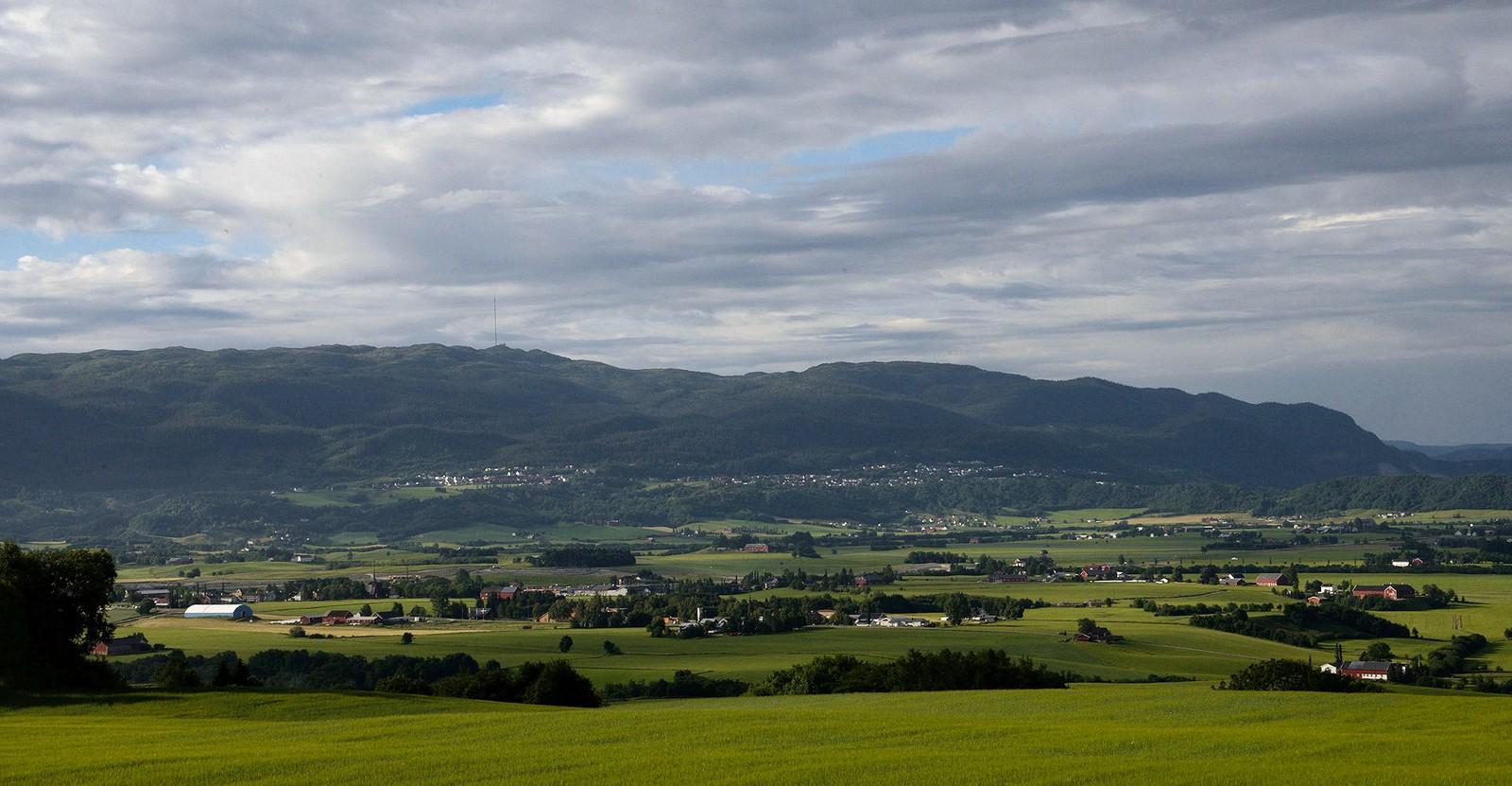 Utsikt fra Skjefstad, Leinstrand