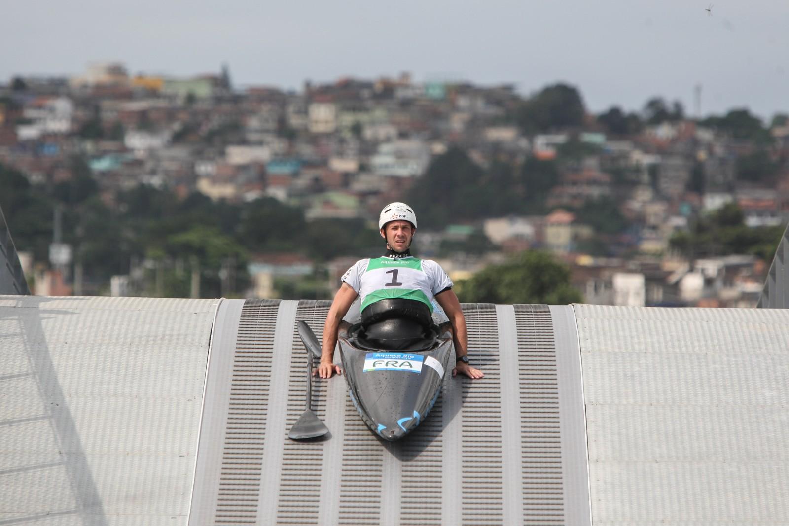 Slalom med kano. Det skal det konkurreres i under OL i Rio neste år. Den ferske grenen var en av flere som ble vist fram under et forhåndsarrangement denne uka.