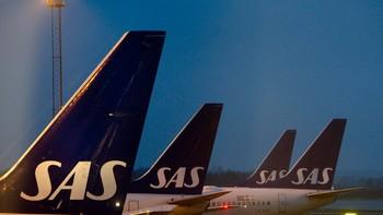 SAS-fly parkert på Arlanda