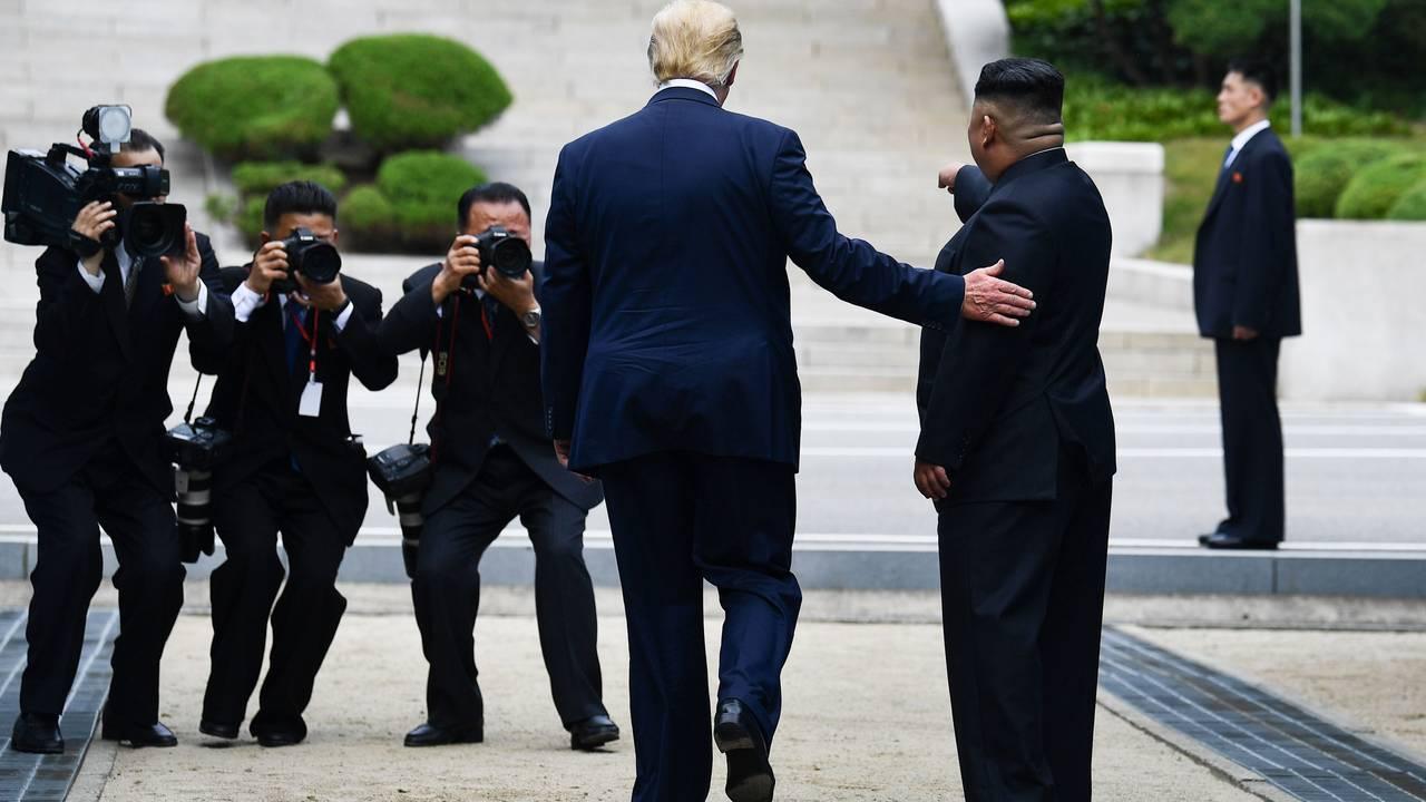 Kim Jong-un spør om Donald Trump vil ta noen skritt på nordkoreansk side av den demilitariserte sone