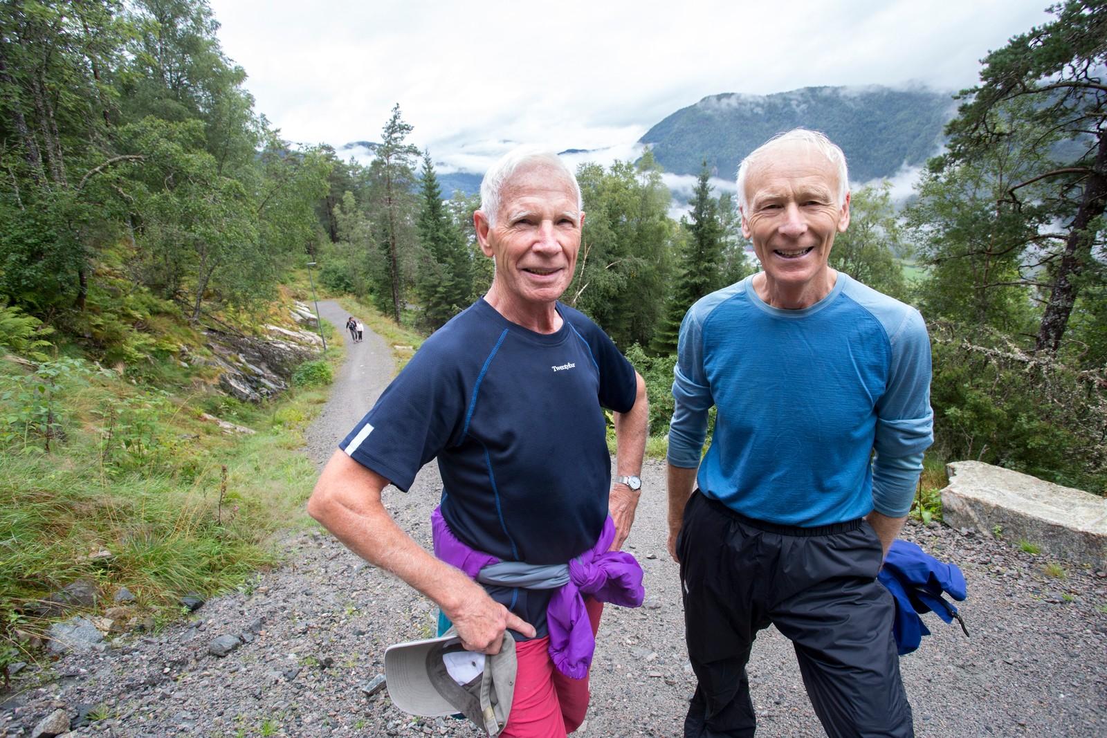 Alder er inga hindring! Leon Haugsbø (70) og Harald Fauske (78) har gått turen heile ni gongar dei siste 14 dagane.