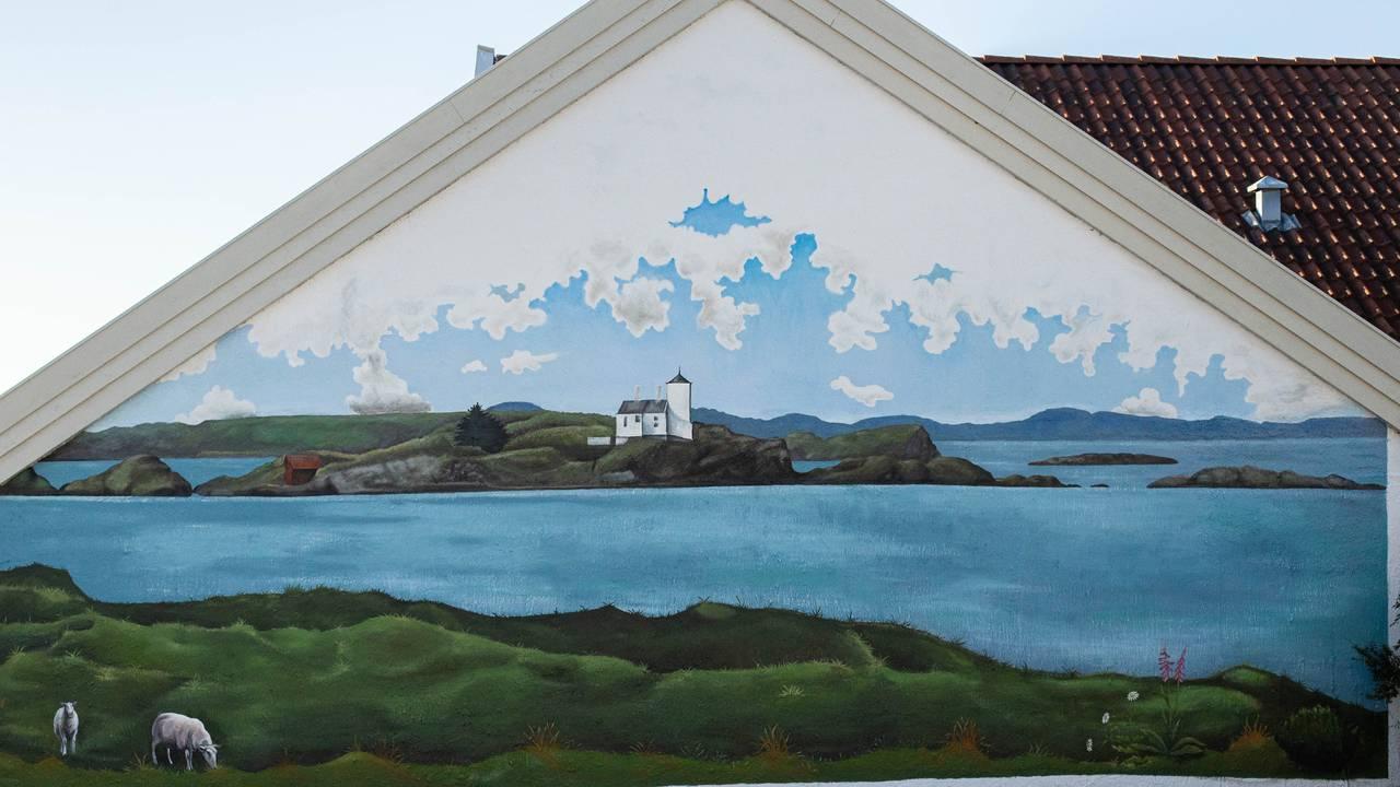 Maleri på vegg