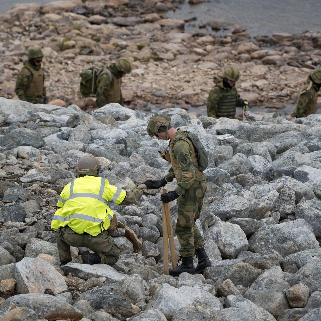 Leting etter eksplosiver, Hjerkinn