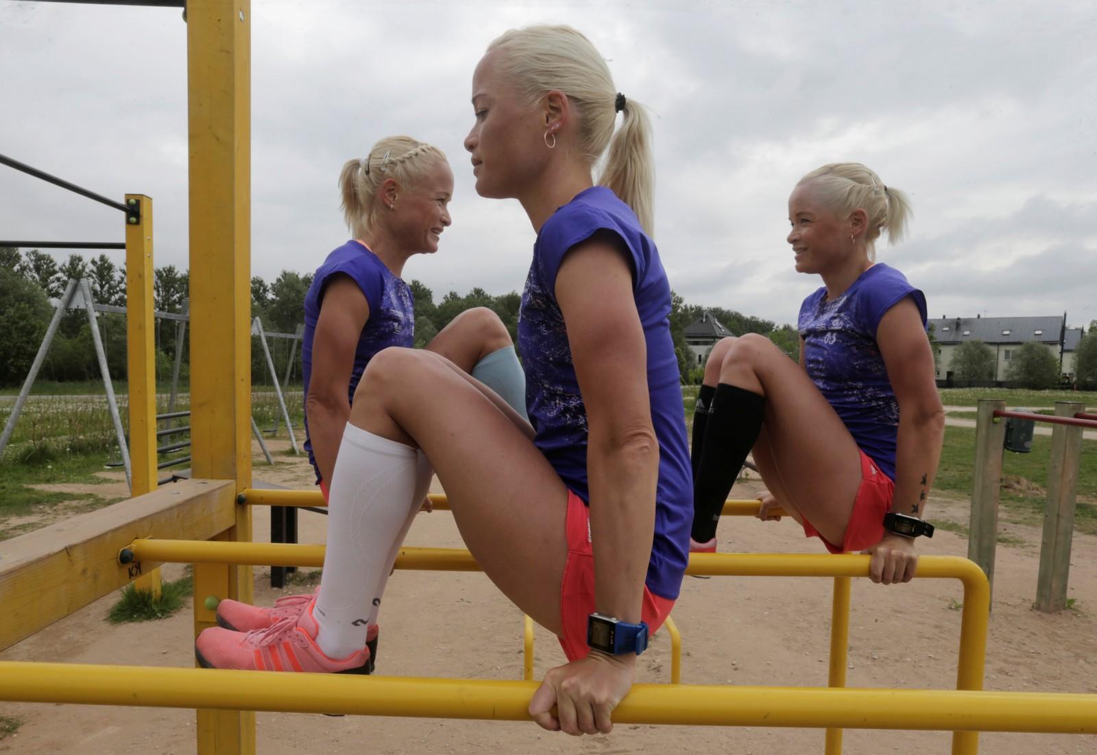 Om Estland håper på trippel pallplass, vites ikke, men trillingene Lily, Leila og Liina Luik er i hvert fall klare for å delta i maraton under OL i Rio.