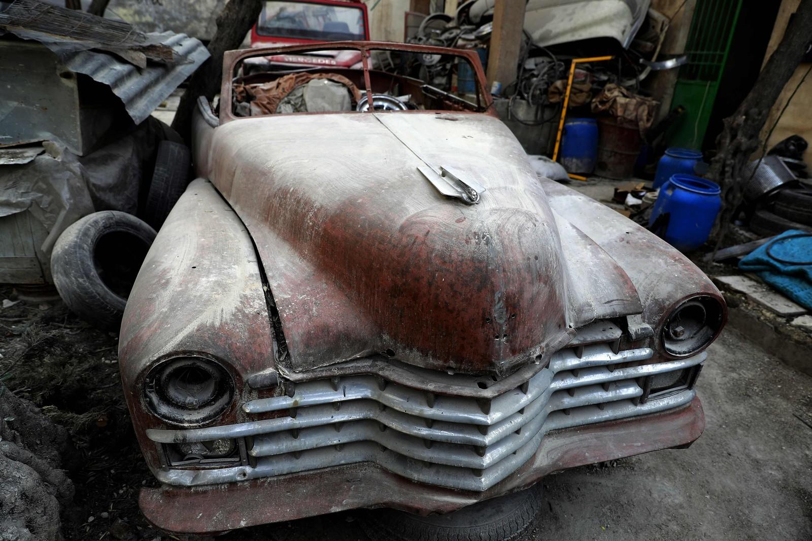 Mohammads røde Cadillac fra 1947 har fraktet flere syriske presidenter.