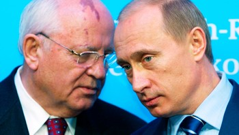 Vladimir Putin og Mikhail Gorbatsjov