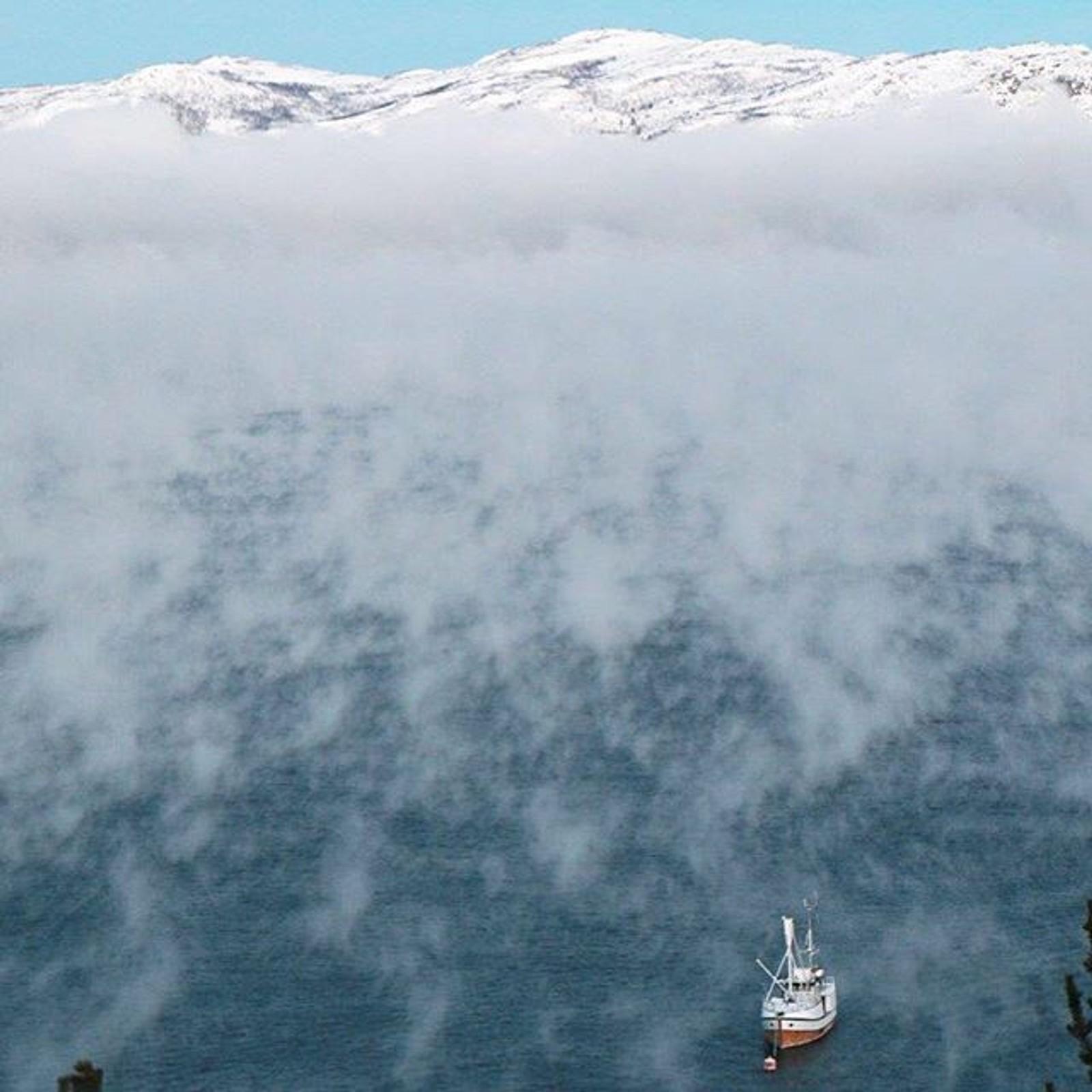 Iskaldt på Altafjorden i dag.