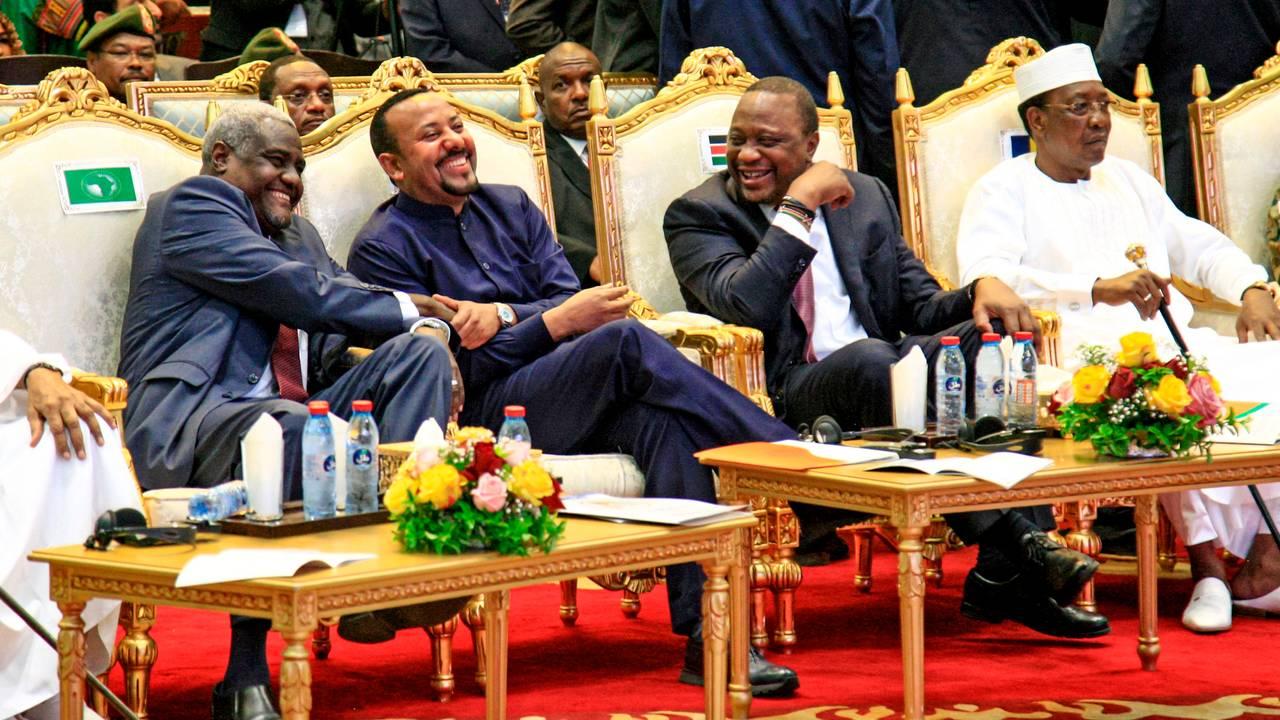Etiopias statsminister Abiy Ahmed i møte i den afrikanske union