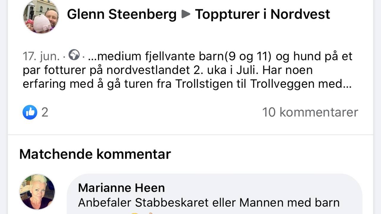 Skjermdump Toppturer i Nordvest