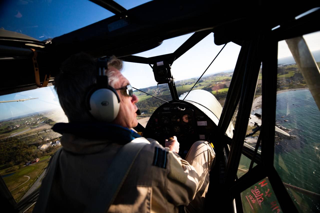 Leidulf Heskje i veteranflyet sitt