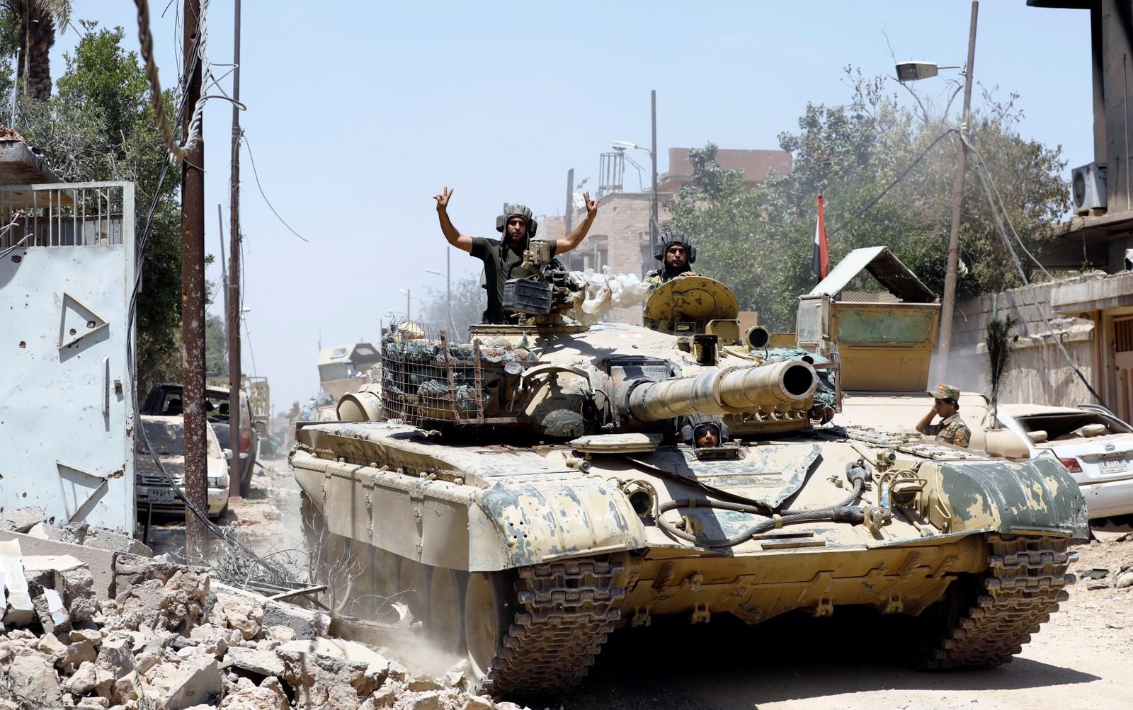 Irakiske soldater i Mosul.
