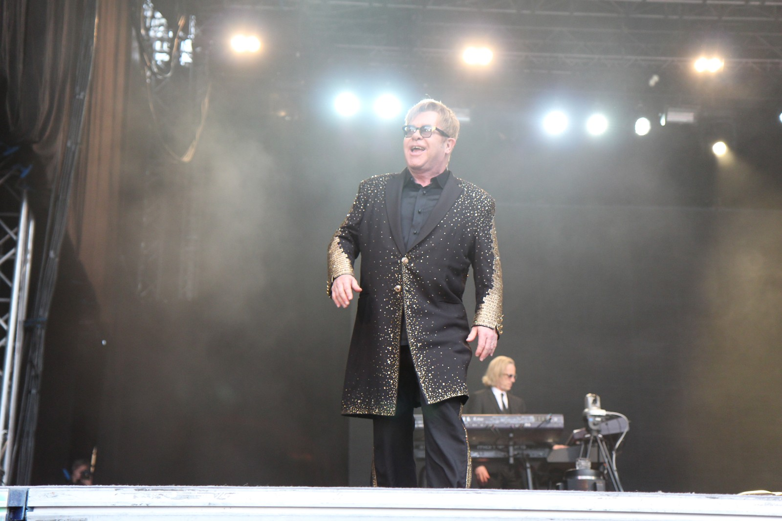 Elton John på Sverresborg i Trondheim.