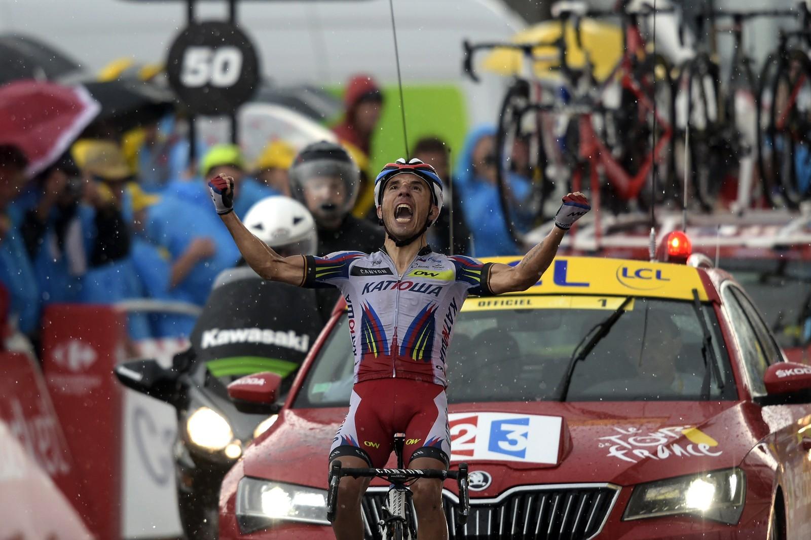 ... og vant! AFP PHOTO / LIONEL BONAVENTURE