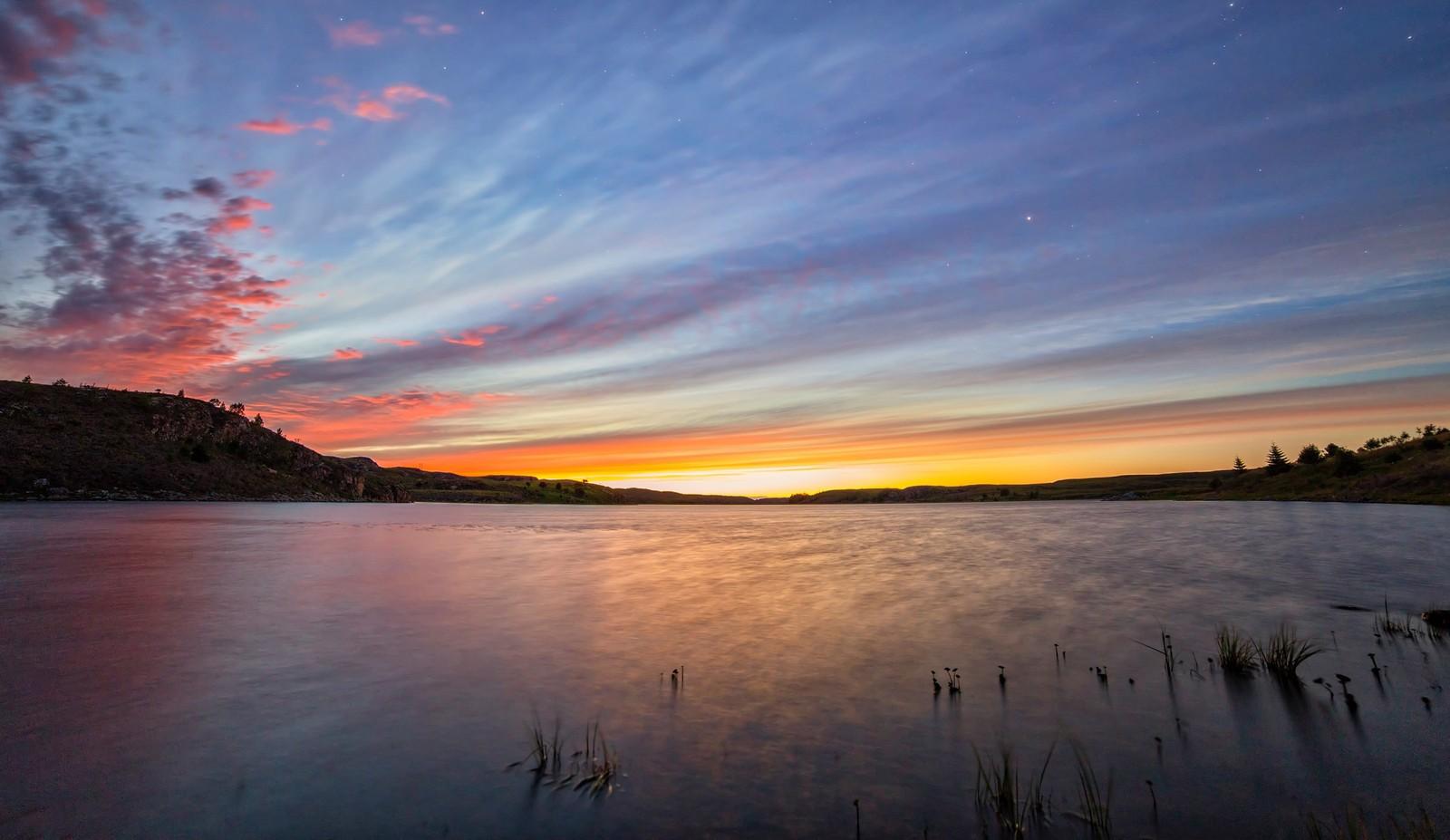 Solnedgang Hammarvatnet, Frøya