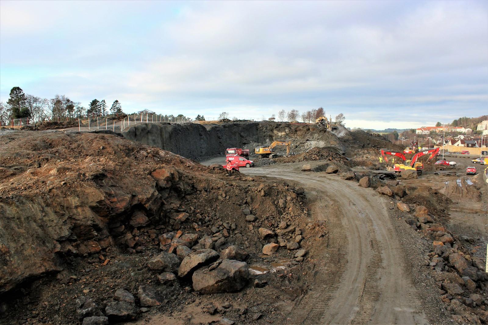 Bygging av ny E39 på Tasta i Stavanger.