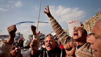 Protestabe på Tahrirplassen i Kairo er ikkje over.