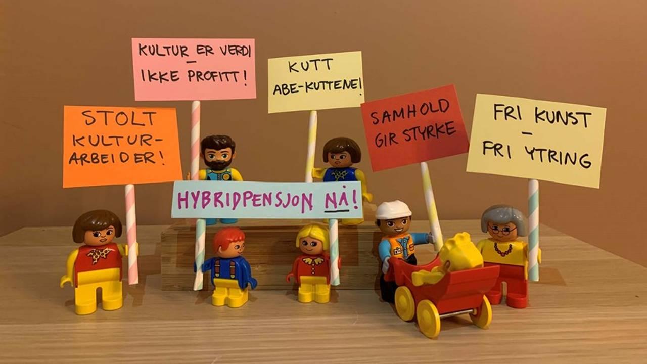 Mini-parole laga for Fagforbundet Teater og Scene. Kultur er verdi, ikke profitt, meiner dei.