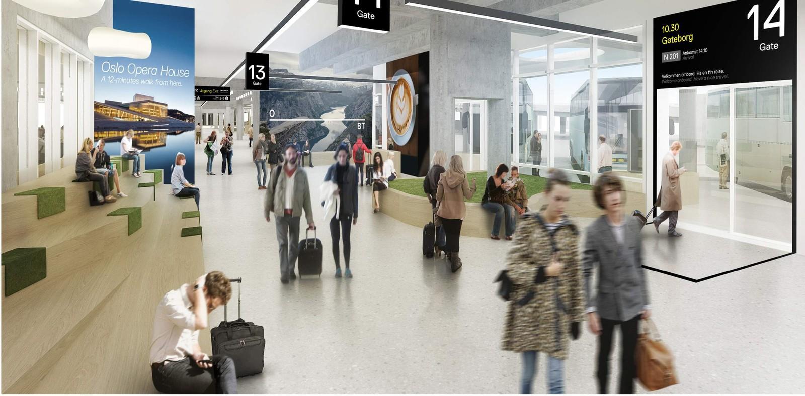 Oslo Bussterminal skal bygges om til en mer moderne og kundevennlig bussterminal. Oppstart er prosjektert første kvartal 2018, med sikte på ferdigstillelse innen sommeren 2019.