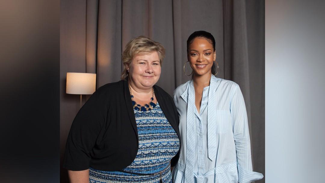 e1503eb0 Erna og Rihanna vil gi barn i fattige land utdanning – NRK Super