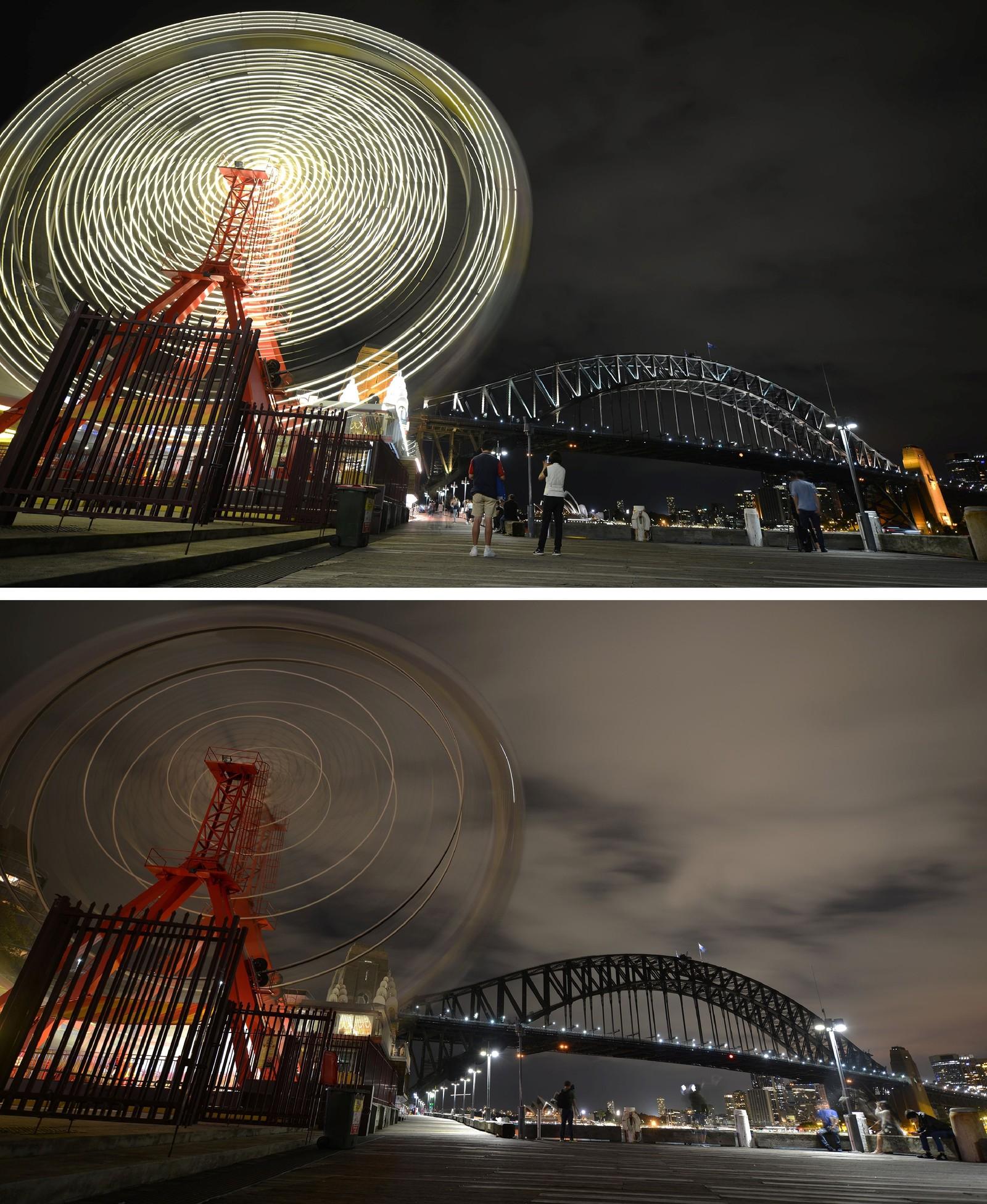 Hjulet i Luna Park i Sydney i Australia.