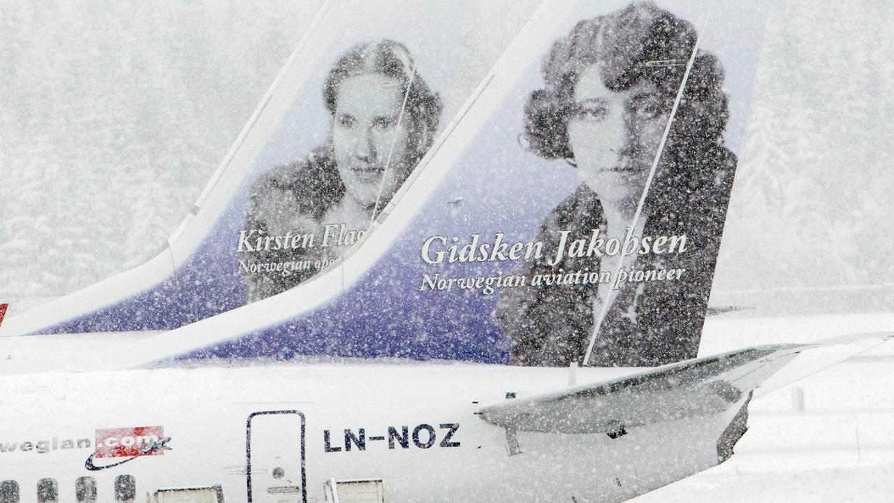 Halevinger på Norwegian-fly