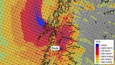 Vindvarsel for Nord-Norge onsdag 18. januar - Foto: MET