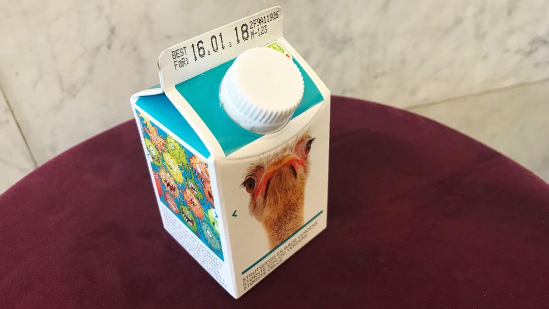 Liten melkekartong med ekstra lettmelk fra Tine