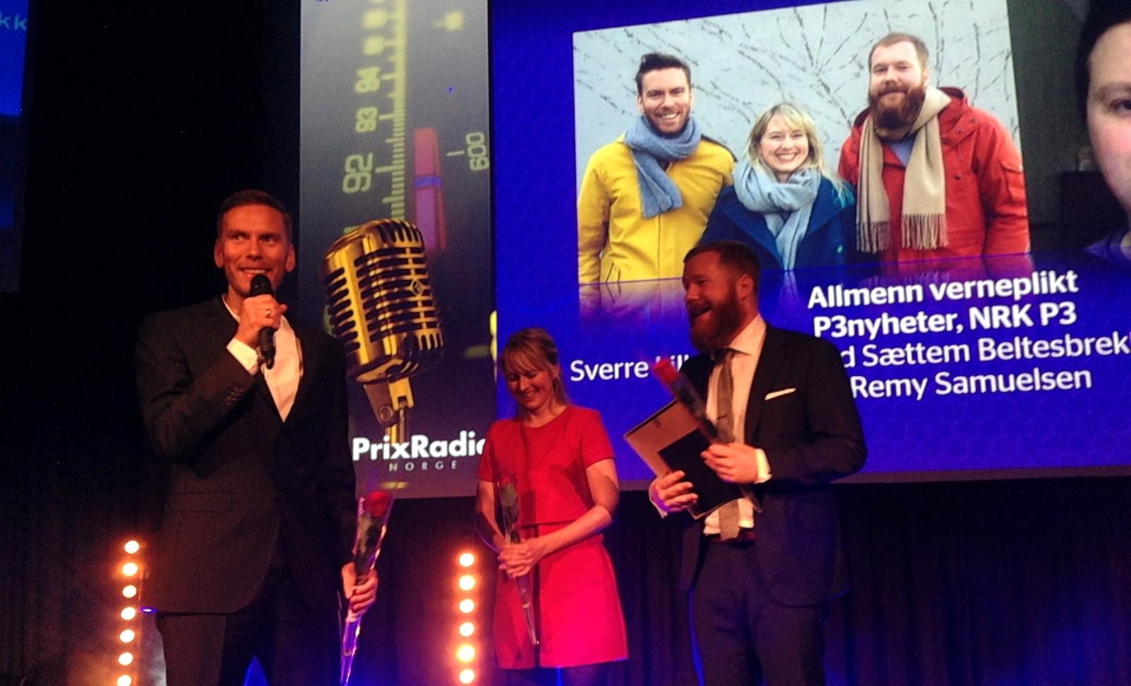 P3nyheter får Prix Radio-pris for beste nyhetsbulletin 2015
