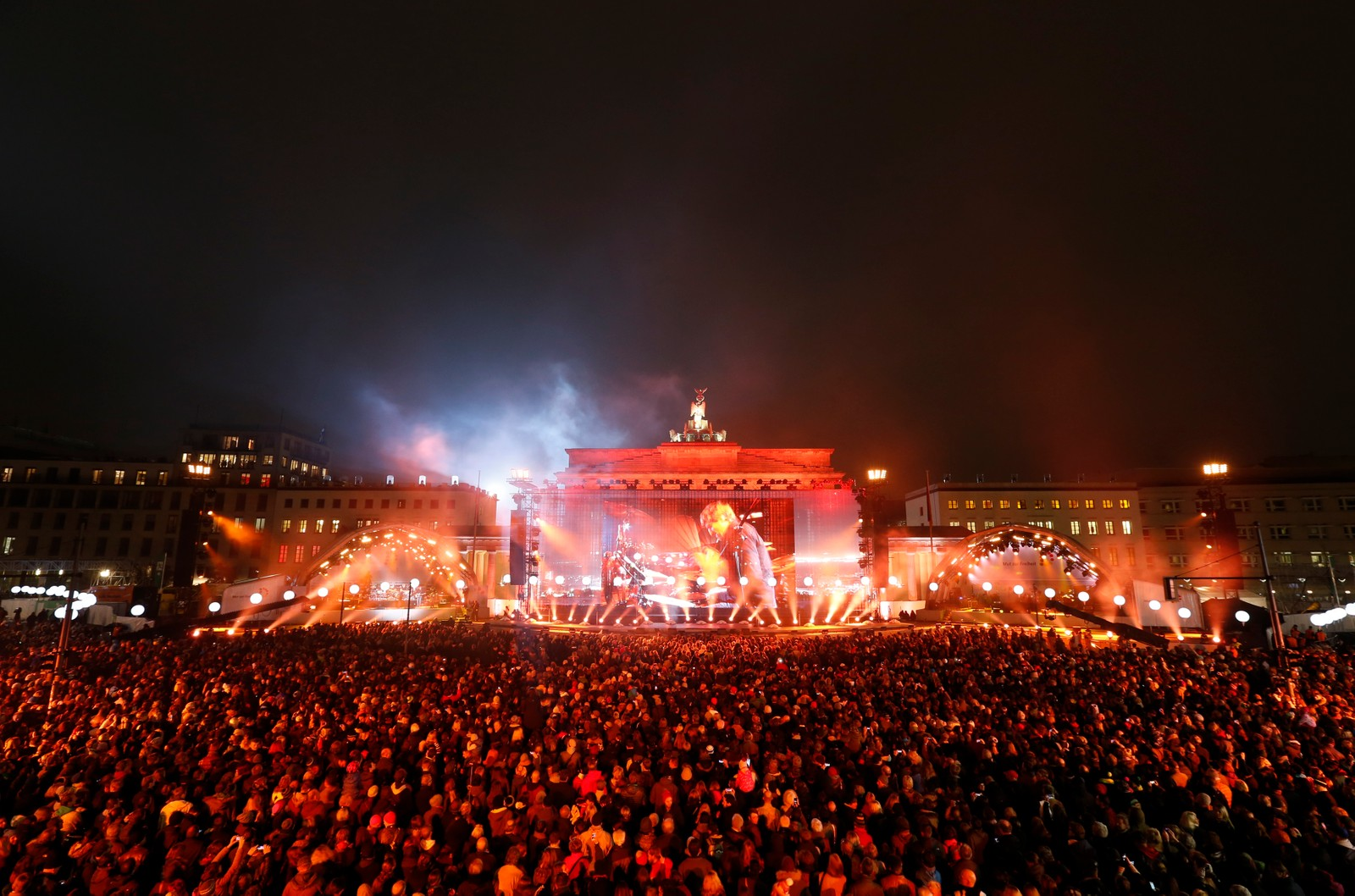 Konserter på folkefesten i Berlin som markerer 25-årsdagen for murens fall.