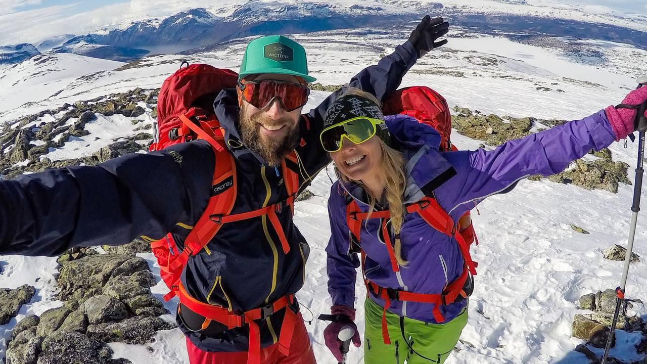 Skitur sent i mai, Gilafjellet, Vang i Valdres