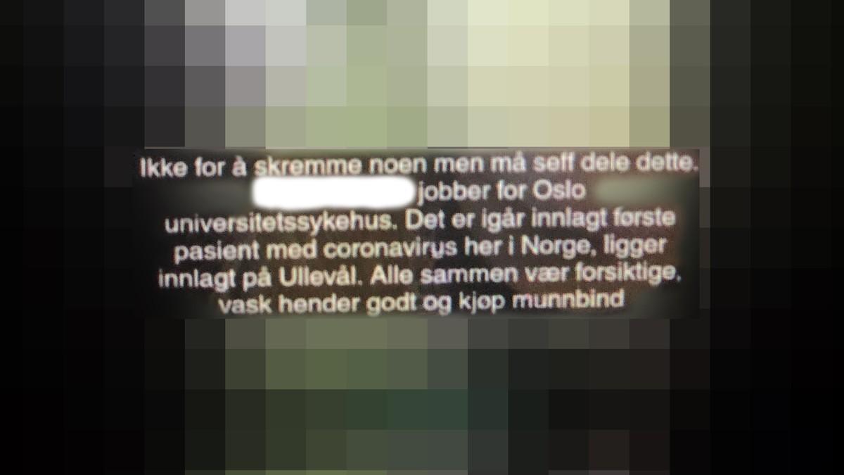 Spreier Falske Nyheiter Om Coronaviruset Nrk Norge Oversikt Over Nyheter Fra Ulike Deler Av Landet