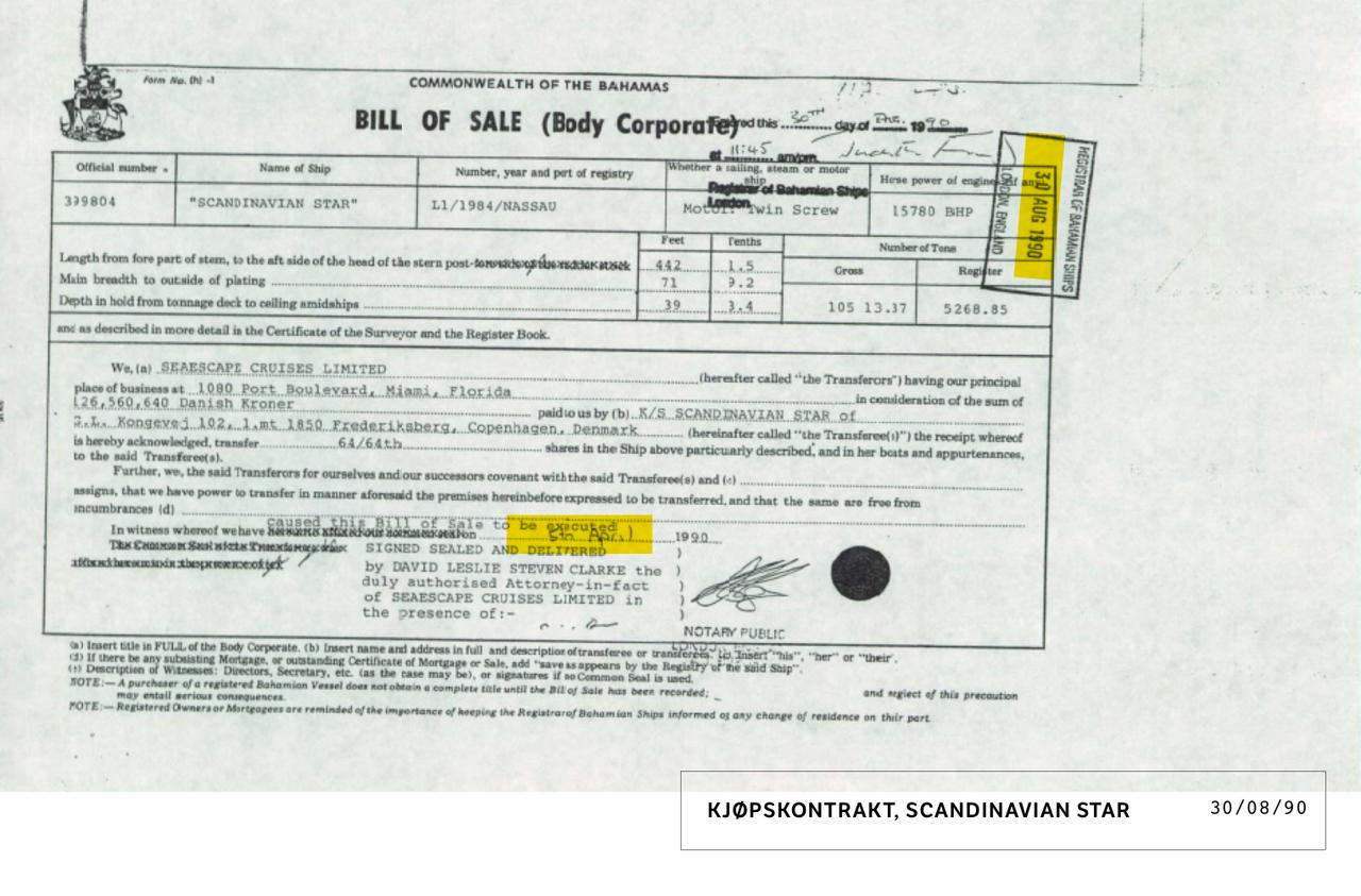 Kontrak kjøp av Scandinavian Star