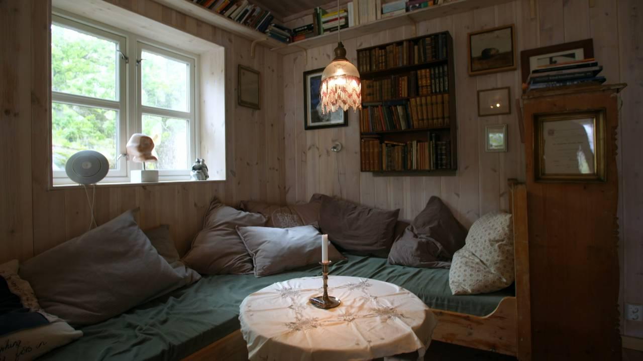 Sofakrok i miljøvennlig hus