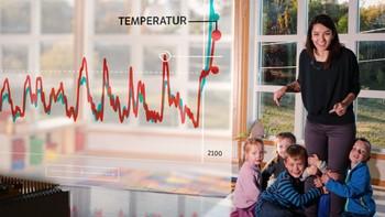 Selda Ekiz om temperatur og co2 siste 800 000 år.