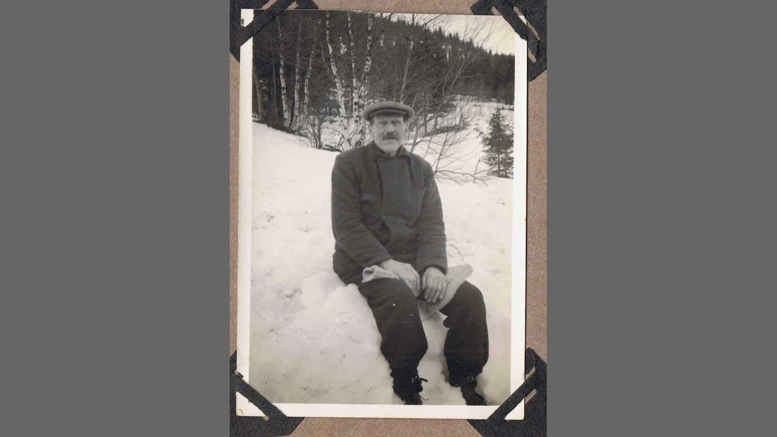 Passfoto av Petter Dortenius Hammer