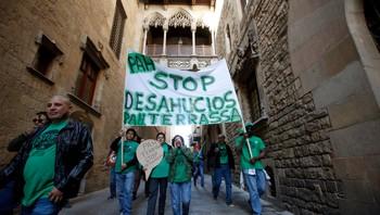 Aktivister fra PAH demonstrerer mot utkastelser