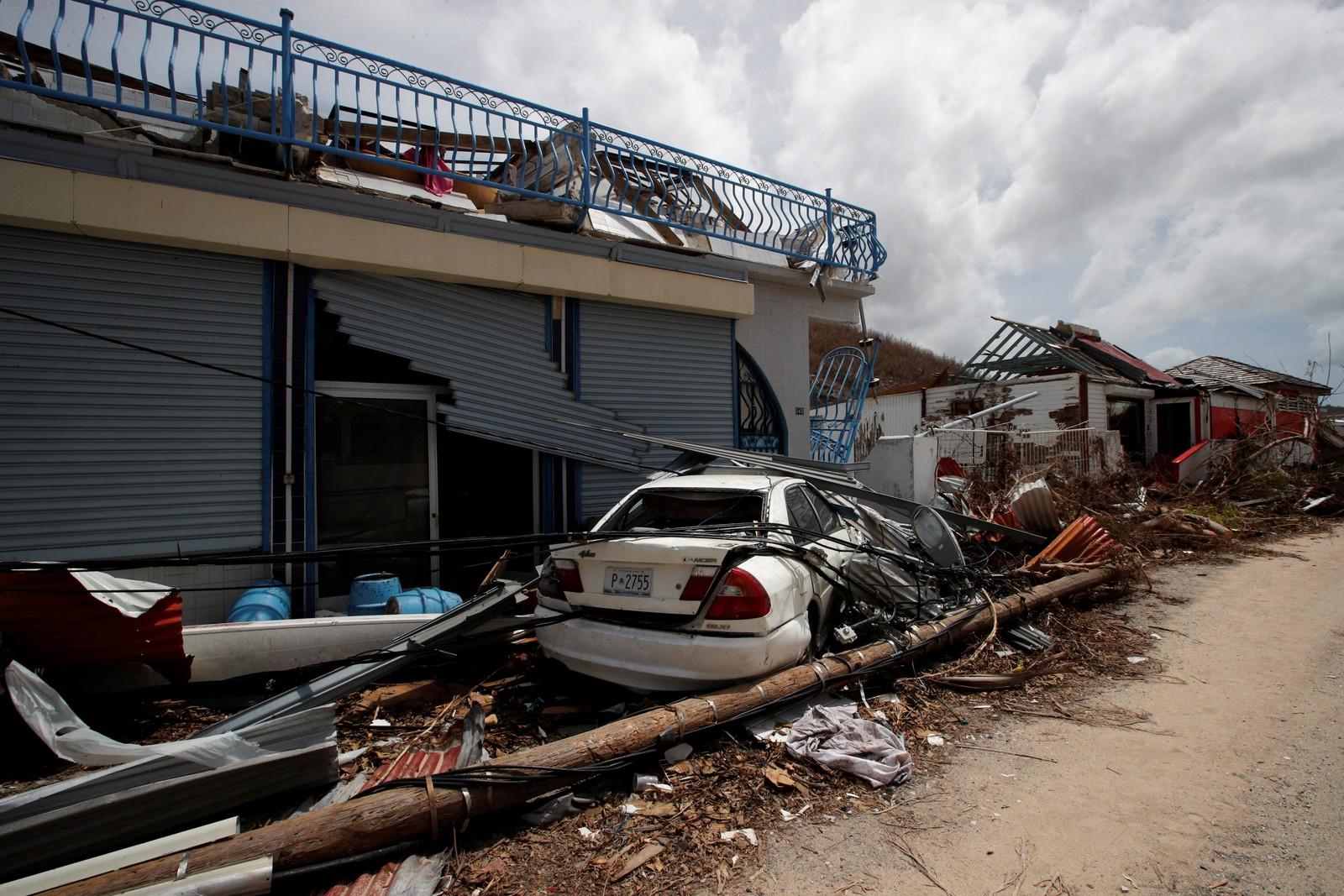 Store ødeleggelser i St. Martin.