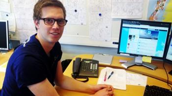 Martin Granerød, statsmeteorolog ved Vervarslinga for Vestlandet